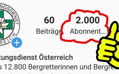 INSTAGRAM – 2.000 Abonnenten folgen bereits dem ÖBRD