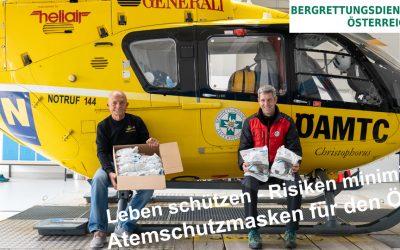 Lebensrettung ist Teamarbeit – ÖAMTC unterstützt ÖBRD mit Atemschutzmasken