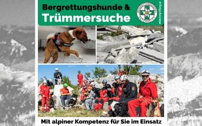 Ausbildung der Lawinen- und Suchhunde