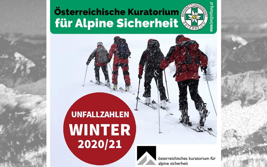 ÖKAS Alpinunfälle – Bericht Winter 2020/21