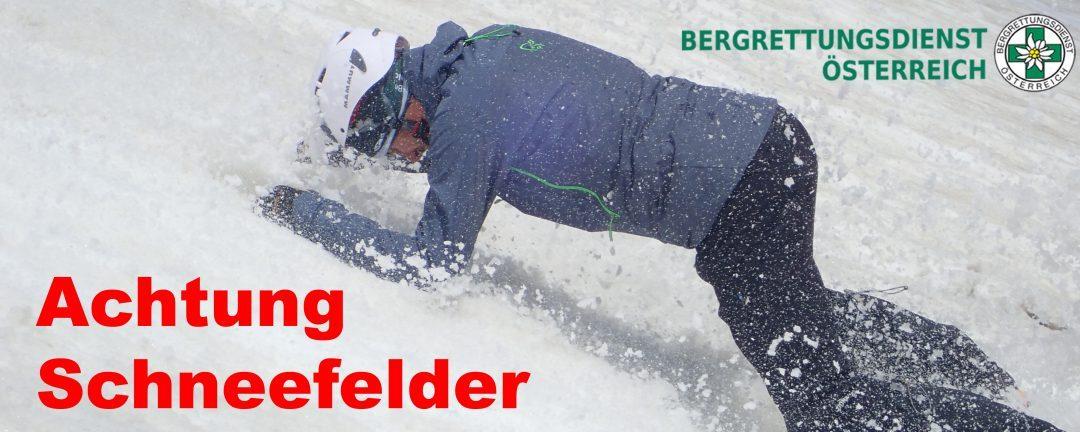 Schneefelder: Bergrettung warnt