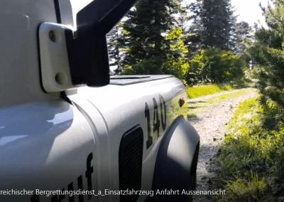 Einsatzfahrzeug Anfahrt Außenansicht