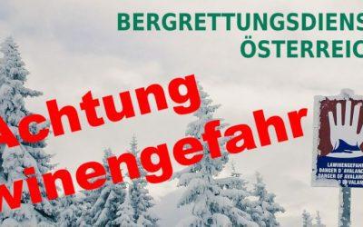 Winterliche alpine Unternehmungen